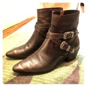 Frye Leather Moto Booties